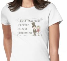 Just Married Forever Just Beginning Womens Fitted T-Shirt