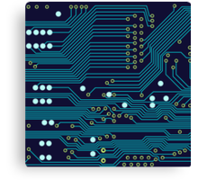 Dark Circuit Board Canvas Print