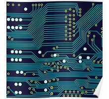 Dark Circuit Board Poster