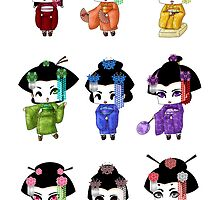 Chibi Geisha by artwaste