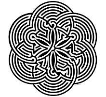 Modern Maze - brain game | Laberinto moderno - juego mental Photographic Print
