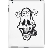 Skull weed joint funny iPad Case/Skin