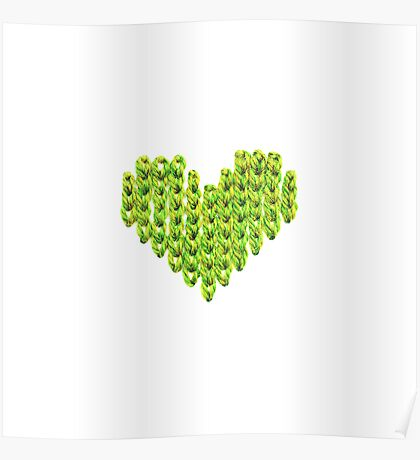 Knit Heart Poster