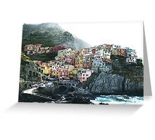 One of the villages of the Cinque Terre, Italia Greeting Card