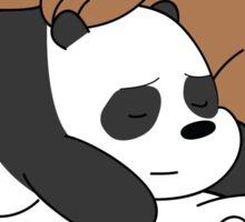 Sleeping Bare Bears - Mint Sticker