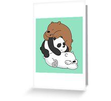 Sleeping Bare Bears - Mint Greeting Card