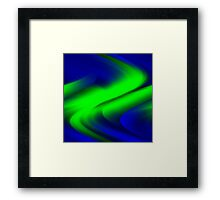 DREAM PATH (Blues & Greens)-(9000 x 9000 px) Framed Print