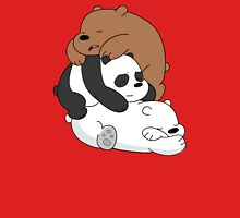Sleeping Bare Bears - Red Unisex T-Shirt