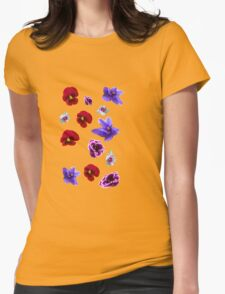 Flowers, violets Womens Fitted T-Shirt