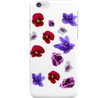 Flowers, violets iPhone Case/Skin
