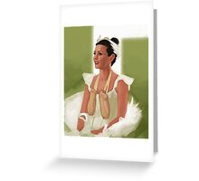 Ballerina Root Greeting Card
