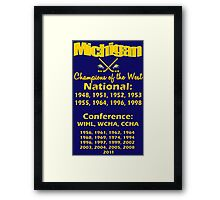 Hockey Champions of the West for Dark Colors Framed Print