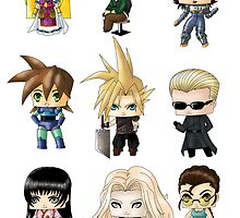 Chibi Gamers Set 2 by artwaste