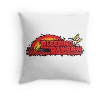 Bleeding Rainbow Throw Pillow