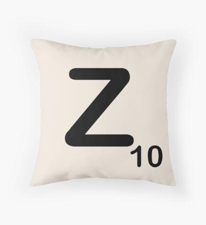 Scrabble Tile Z Throw Pillow