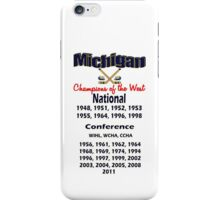 Hockey Champions of the West! iPhone Case/Skin