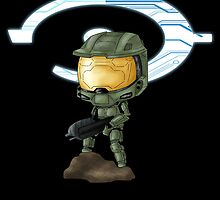 Chibi Master Chief by artwaste
