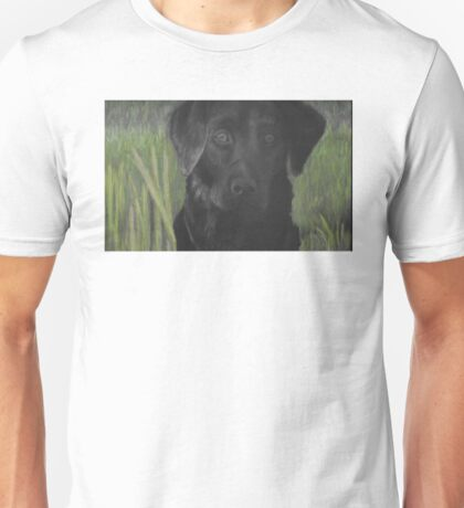 Cindy Dog Portrait Chalk Pastels Unisex T-Shirt