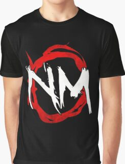 NmO Logo (Red & White) (WORKS BEST WITH BLACK) Graphic T-Shirt