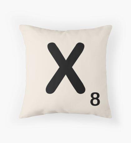 Scrabble Tile X Throw Pillow