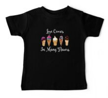 Love CoMes In Many Flavors Baby Tee