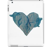 Blue Ink Heart iPad Case/Skin