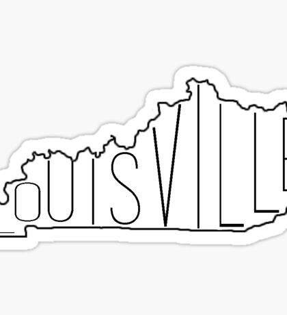 Louisville and KY Outline Sticker