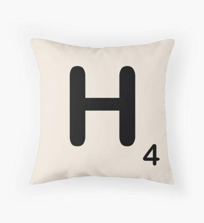 Scrabble Tile H Throw Pillow