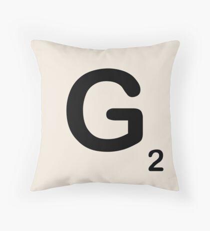 Scrabble Tile G Throw Pillow
