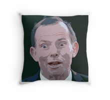Tony Abbott stress reliever Throw Pillow