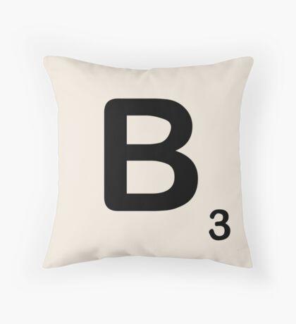 Scrabble Tile B Throw Pillow