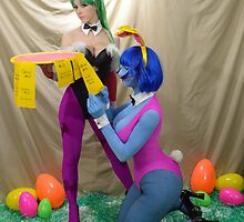 Easter darkstalkers who gets order? by shocktress