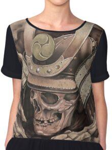 Samurai Skull Chiffon Top