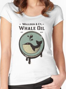Walldun & Co Whale Oil Women's Fitted Scoop T-Shirt