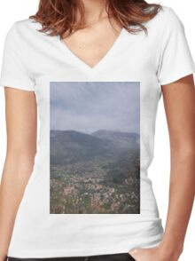 The Italian Countryside  Women's Fitted V-Neck T-Shirt