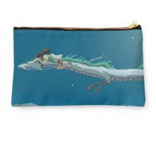 Spirited Away Pixel Art -  Chihiro and Haku Studio Pouch