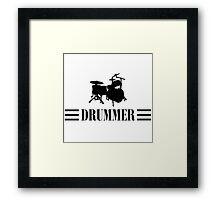 Drummer (Black) Framed Print