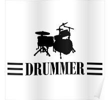 Drummer (Black) Poster
