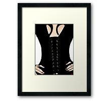 Medieval Sexy Warrior Women Costume corset  Framed Print
