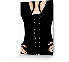 Medieval Sexy Warrior Women Costume corset  Greeting Card