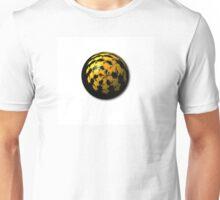 Black Yellow Abstract Globe Unisex T-Shirt