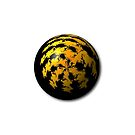 Black Yellow Abstract Globe by Henrik Lehnerer