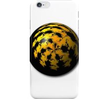 Black Yellow Abstract Globe iPhone Case/Skin