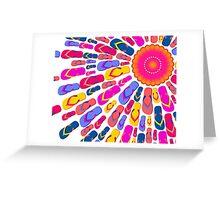 Flip Flops Sun rays Greeting Card