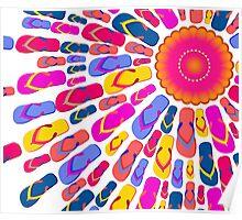 Flip Flops Sun rays Poster
