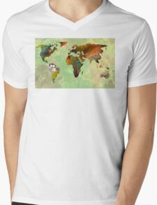 Green Planet Mens V-Neck T-Shirt
