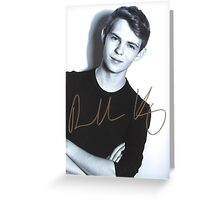 Robbie Kay autograph Greeting Card