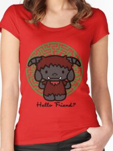 Hello Friend Women's Fitted Scoop T-Shirt