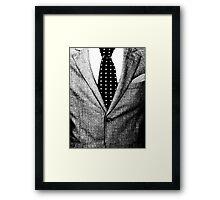 men dress suit  Costume  Framed Print