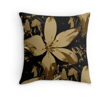 Brown Lily Throw Pillow